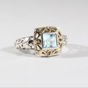 Jewelry - Sterling Silver Blue Topaz Ring 10